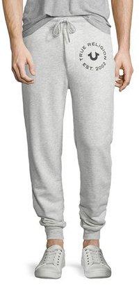 True Religion Slim-Fit Sweatpants, Heather Gray $148 thestylecure.com