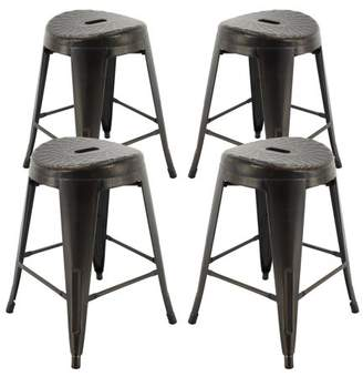 "Vogue Furniture Direct Barstool 24"" backless metal Stool Green"