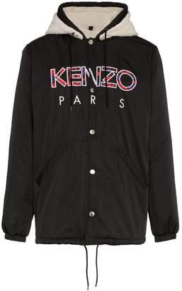 Kenzo Faux-Shearling Hooded Jacket