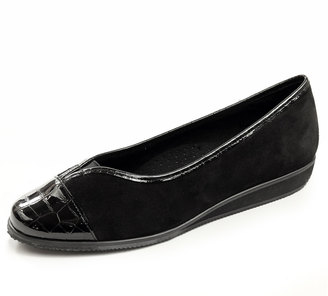 Vaneli Abaka Suede Demi-Wedge Pump, Black $79 thestylecure.com