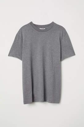 H&M Silk-blend Jersey Top - Gray