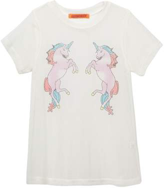 Funkyberry Unicorn Mesh Dress (Toddler Girls)