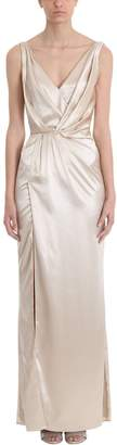 Azzaro Bonte Beige Silk Long Dress