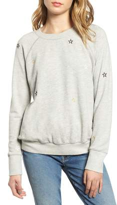 Sundry Star Embroidered Sweatshirt