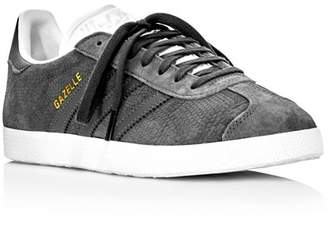 adidas Women's Gazelle Embossed Suede Lace Up Sneakers