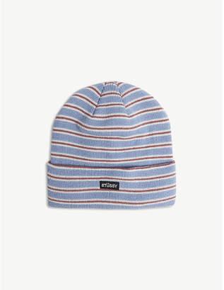 Stussy Striped beanie hat