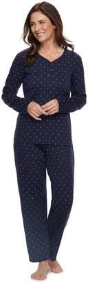 Croft & Barrow Petite Henley Tee & Pants Pajama Set