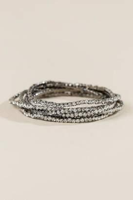 francesca's Ashley Crystal Stretch Bracelet Set - Crystal