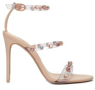 Sophia Webster - Rosalind Crystal Embellished Plexi Sandals - Womens - Nude Multi