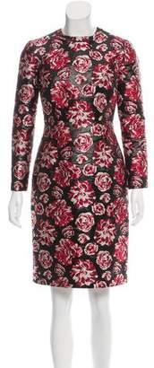 Lanvin 2015 Floral Brocade Dress