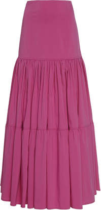 Aje Allégro Tiered Cotton-Blend Maxi Skirt Size: 4