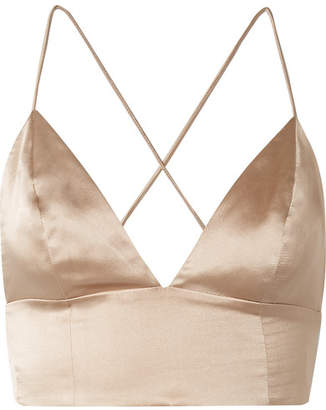 CAMI NYC The Mila Silk-charmeuse Bra Top - Neutral