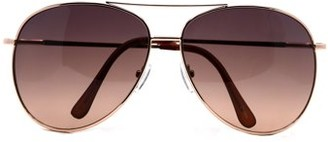 Pop Fashionwear Metal Sunglasses Classic Aviation X-Large Size Spring Hinge Temple 616