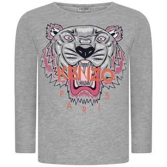 Kenzo KidsGirls Grey Tiger Top
