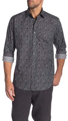 Bugatchi Patterned Long Sleeve Classic Fit Shirt
