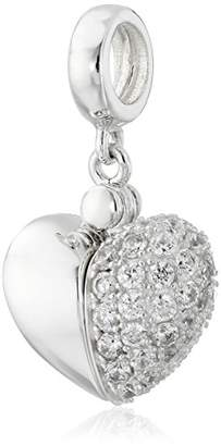 Swarovski Chamilia Zirconia Secret Message Heart Locket Bead Charm