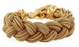 Emanuele Bicocchi 24K Gold-Plated Sterling Silver Braided Bracelet