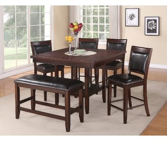 Fulton Crown Mark Counter Height Upholstered Dining Chair (Set of 2) Crown Mark