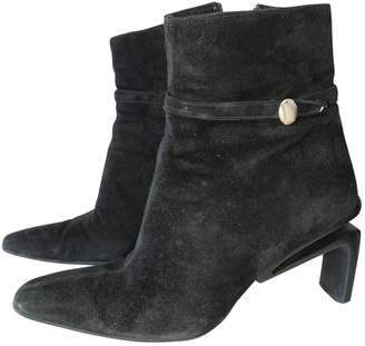 Karl Lagerfeld Black Suede Ankle boots