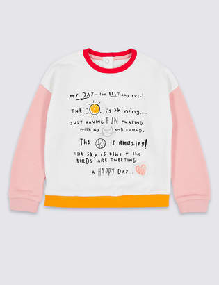 Marks and Spencer Colour Block Sweatshirt (3 Months - 7 Years)