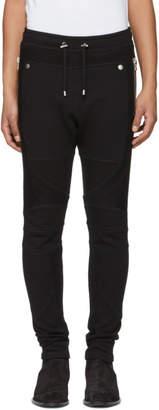 Balmain Black Mix Fabric Lounge Pants