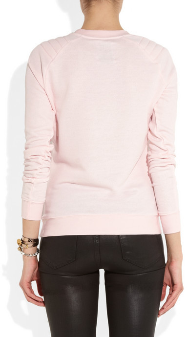 Zoe Karssen Good Girls Love Bad Boys cotton-blend jersey sweatshirt