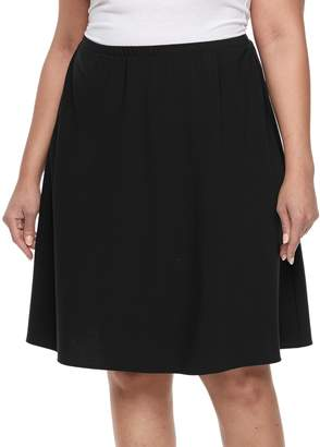Briggs Plus Size Comfort Waistband A-Line Skirt