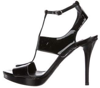 Ralph Lauren Purple Label Patent Leather Ankle Strap Sandals