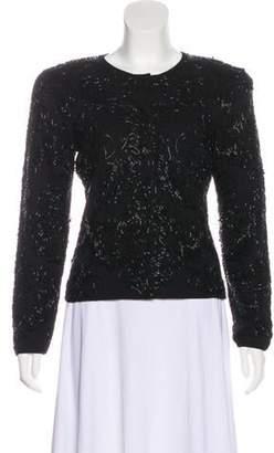 Adrienne Vittadini Embellished Structured Blazer Black Embellished Structured Blazer