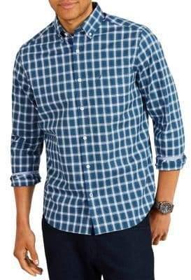 Nautica Classic-Fit Plaid Button Down Shirt
