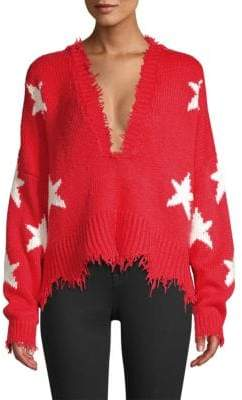Wildfox Couture Stars V-Neck Sweater