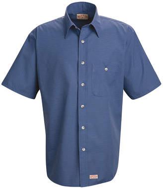 JCPenney Red Kap SP84 Mini Plaid Uniform Men's Shirt