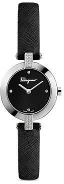 Salvatore Ferragamo Miniature Diamond Watch, 26mm