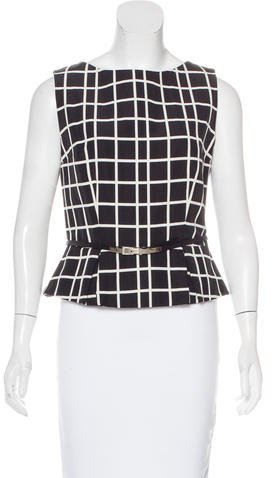 Christian Dior Sleeveless Belted Top