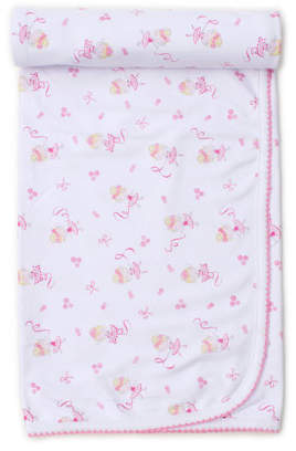 Kissy Kissy Twirly Toes Printed Pima Baby Blanket