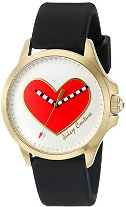 Juicy Couture Women's 'Jetsetter' Quartz Gold-Tone and Silicone Automatic Watch, Color:Black (Model: 1901420) $145 thestylecure.com