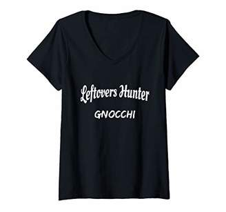 Hunter Womens Italian food leftovers Gnocchi gourmets V-Neck T-Shirt