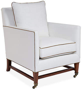 Brentwood Club Chair - Ivory/Tan Linen - Mark D. Sikes