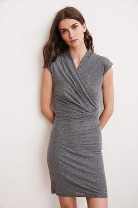 Velvet by Graham & Spencer OMEGA GAUZY WHISPER FITTED WRAP DRESS