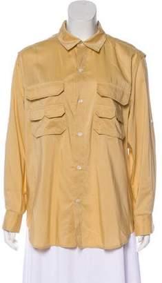 Billy Reid Silk-Blend Button-Up Top