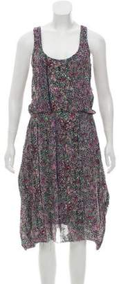 Thakoon Floral Print Midi Dress