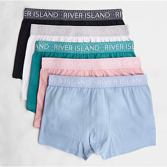 River Island Green geo waistband hipsters multipack