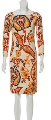 Gucci Long-Sleeve Printed Dress