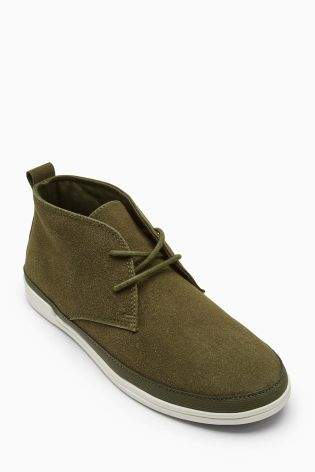 Boys Khaki Chukka Boots (Older Boys) - Green