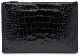 Prada Crocodile Leather Pouch