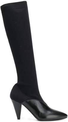 Prada over-the-knee pointed boots
