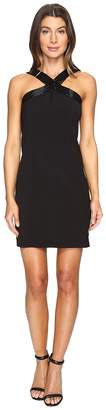 Laundry by Shelli Segal Cross Front Beaded Cocktail Dress Women's Dress