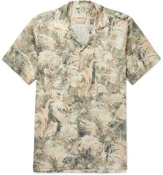 Etro Camp-Collar Printed Linen Shirt