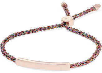 Monica Vinader Linear Rose Gold Vermeil And Metallic Woven Bracelet - one size
