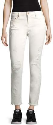 Roberto Cavalli Women's Distressed Cropped Skinny Jeans
